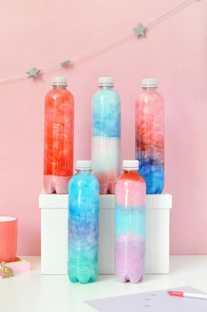 DIY Recycled Bottle Art