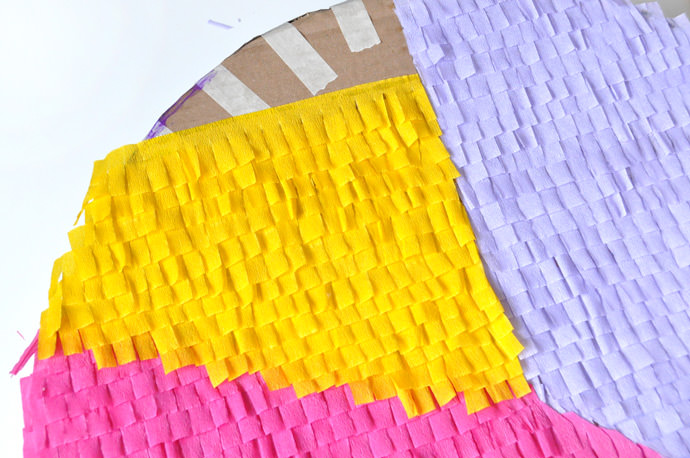 DIY Pie Chart Back-to-School Pinata