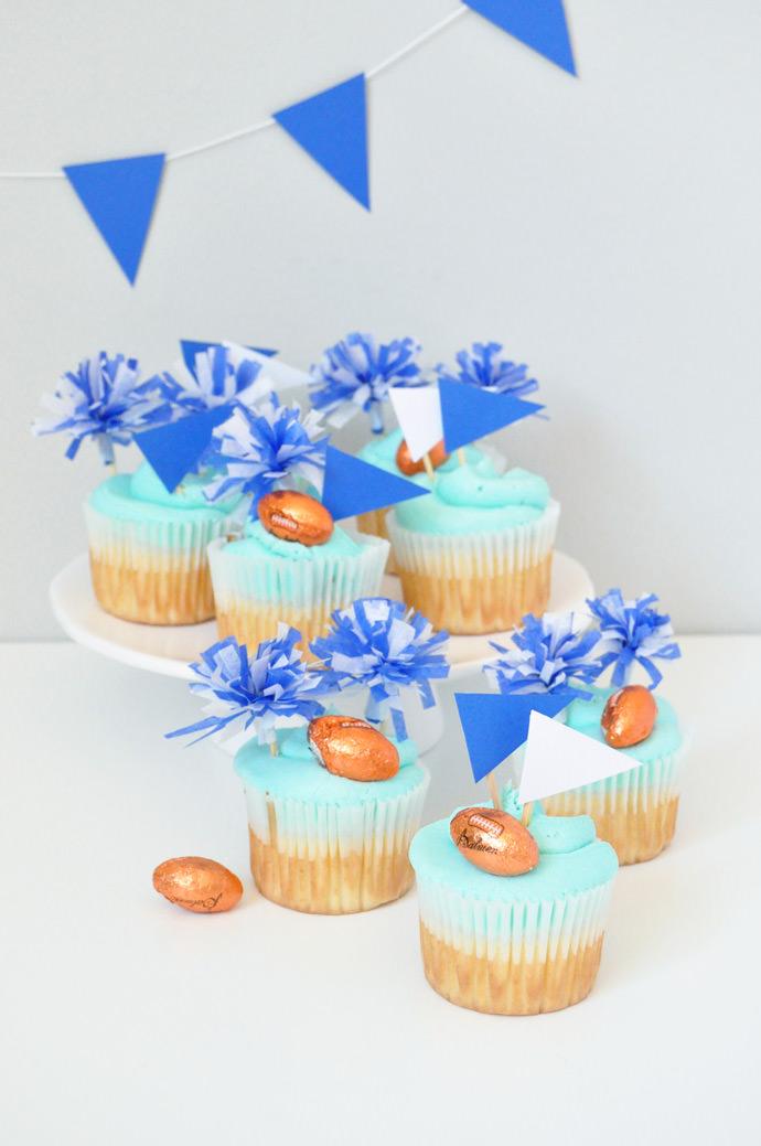 Go Team Diy Pom Pom Cupcake Toppers Handmade Charlotte