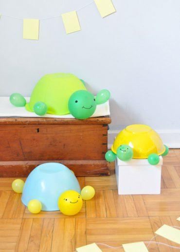 DIY Jumbo Balloon Turtles
