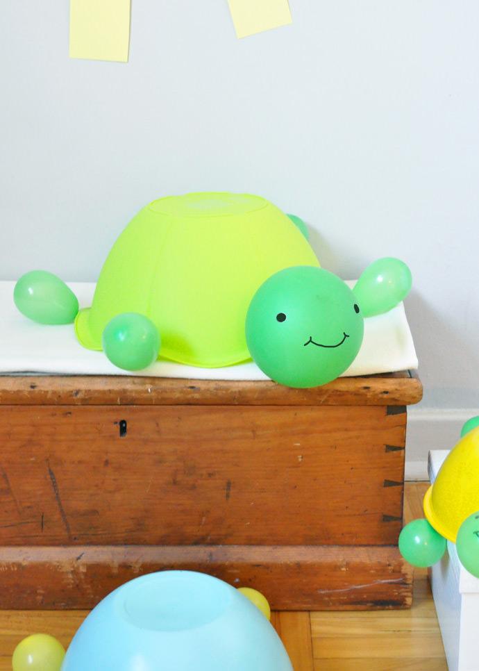 DIY Balloon Turtle Toys