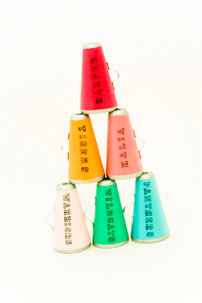DIY Mini Megaphone Place Cards