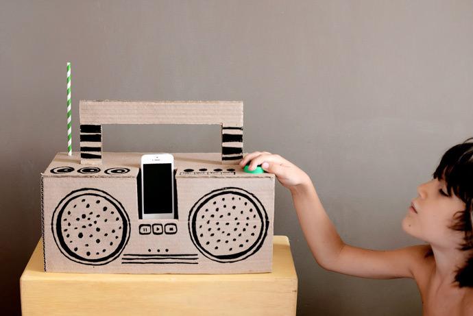 DIY Cardboard Boom Box