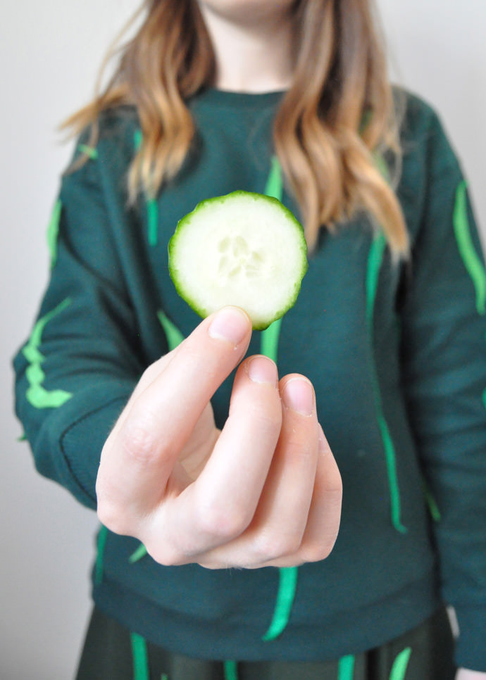 DIY Cool Cucumber Halloween Costume