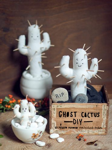 DIY Halloween Ghost Cactus