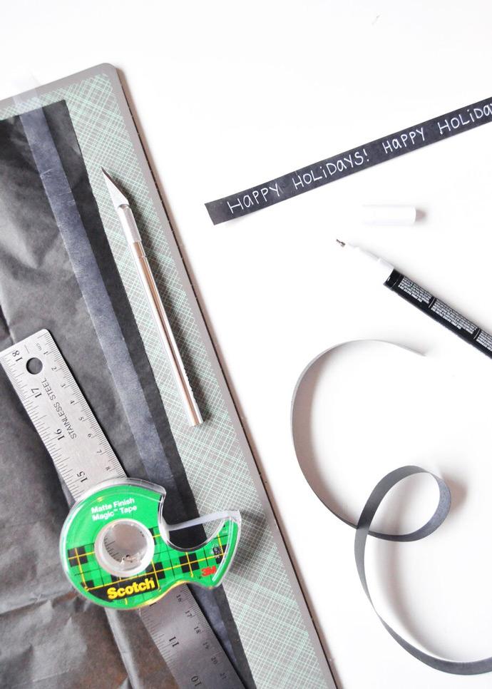 DIY Cassette Tape Gift Wrap
