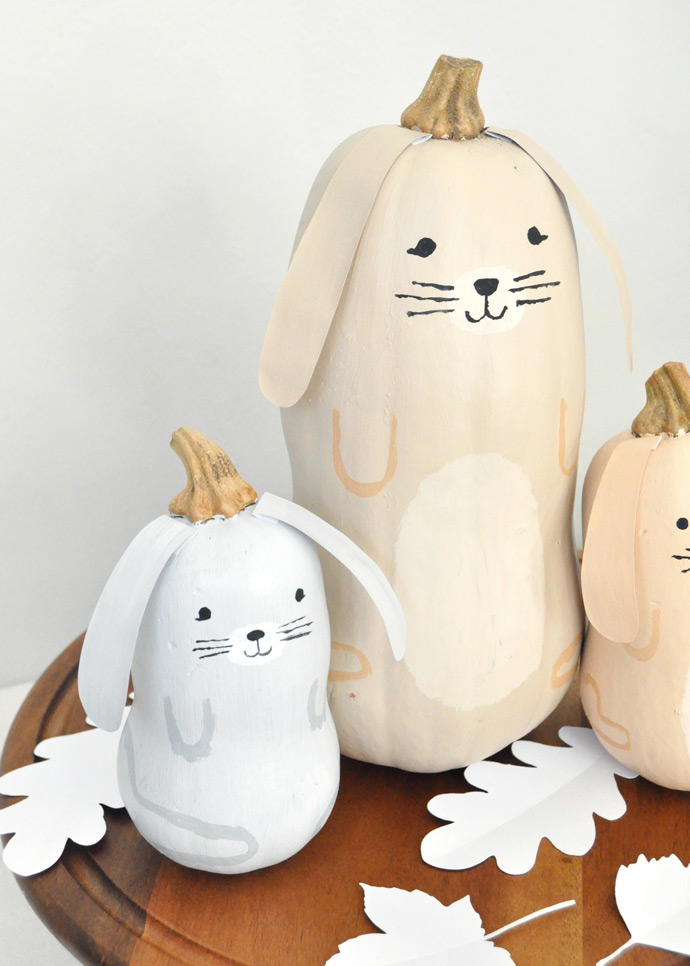 DIY Butternut Squash Bunnies