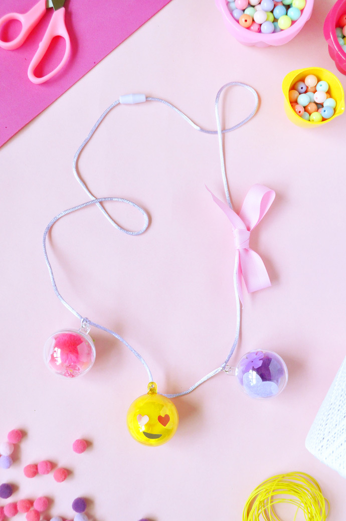 DIY Emoji Bubble Necklaces