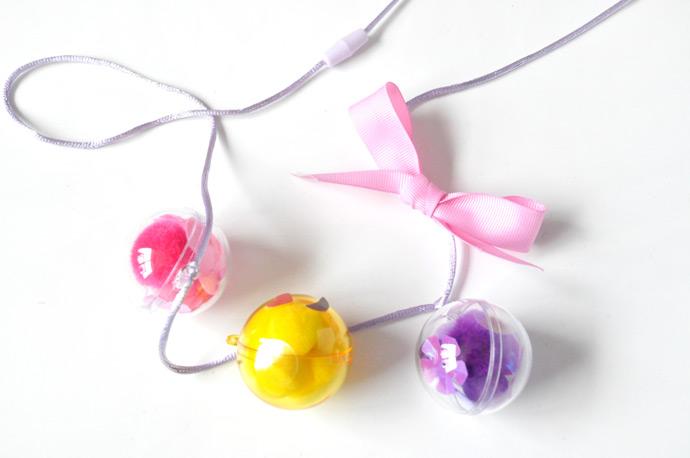DIY Emoji Bubble Necklaces