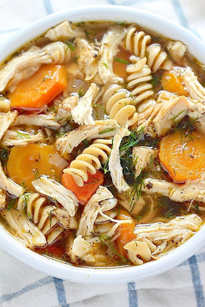 Flu-Fighter Chicken Noodle Soup Recipe