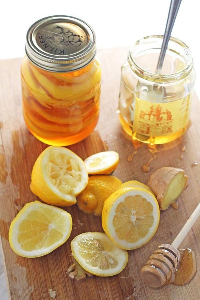 Natural Cold & Flu Remedy - Honey Lemon Ginger Jar