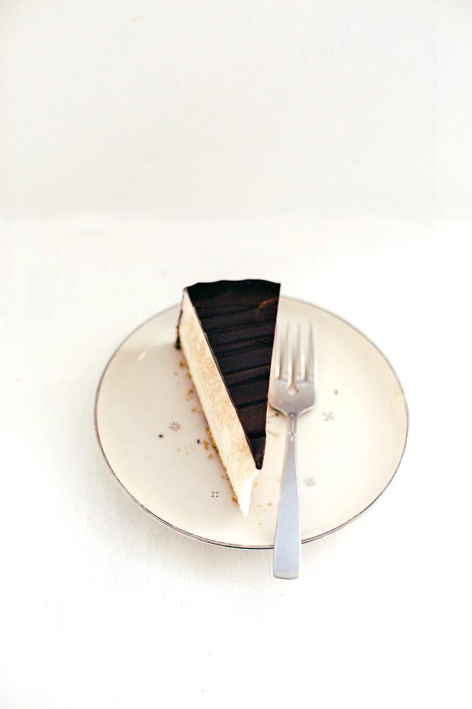 Recipe: Almost No-Bake Cheesecake with Chocolate Ganache