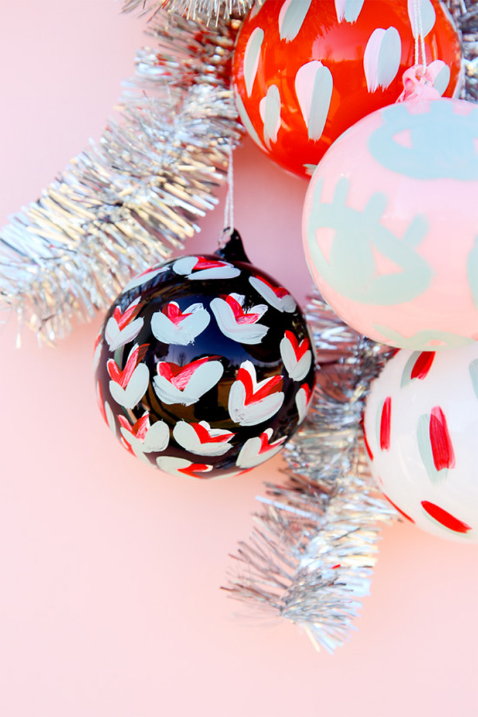 DIY Hand-Painted Pattern Ornaments
