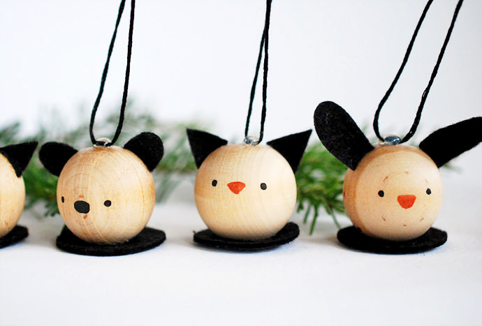 DIY Wooden Animal Ornaments