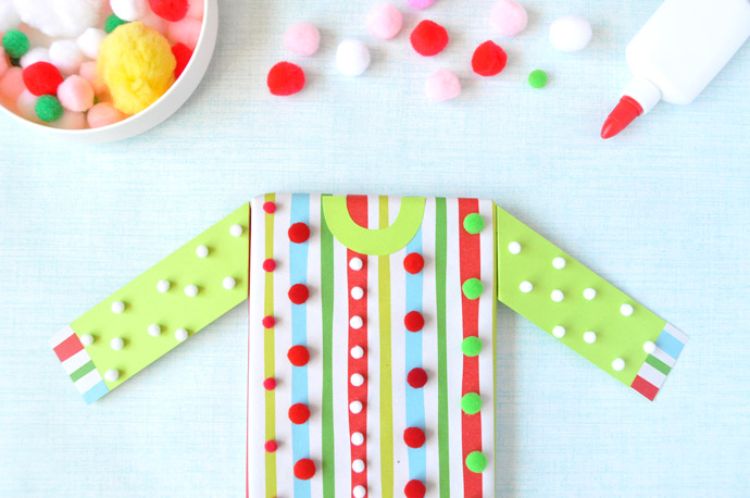 DIY Ugly Christmas Sweater Gift Wrap