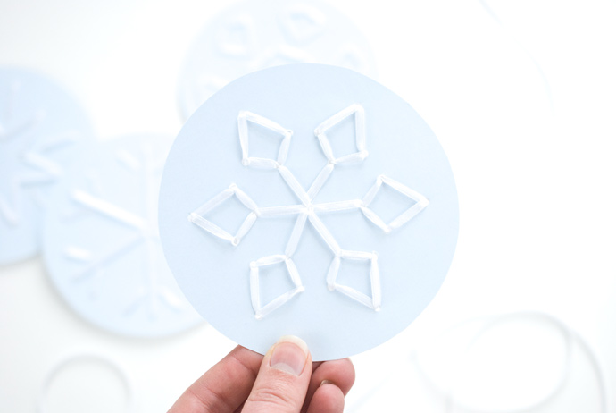 Printable Snowflake Stitching Cards