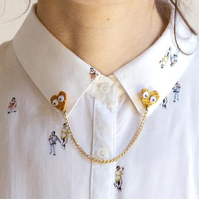 ... DIY Loving Hearts Collar Pin ...