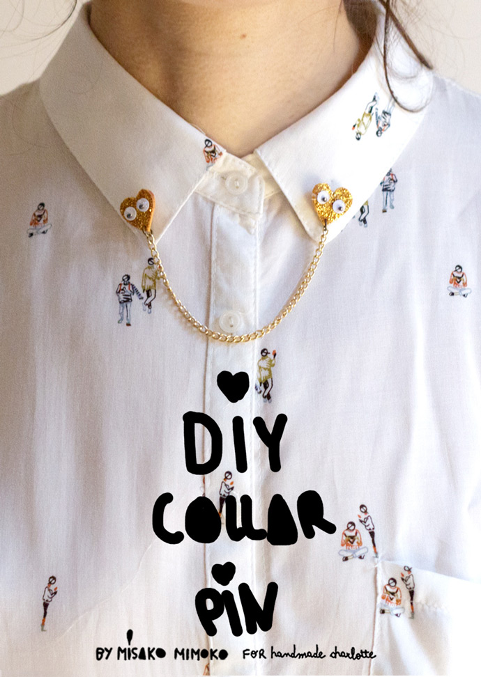 DIY Loving Hearts Collar Pin