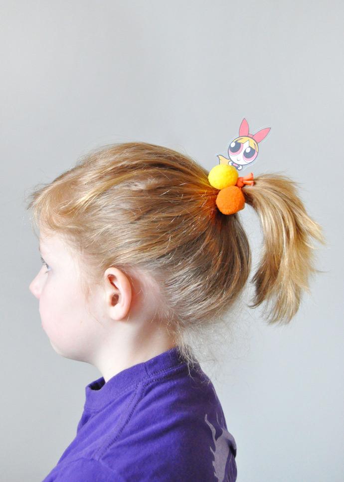 DIY Powerpuff Girls Hair Ties