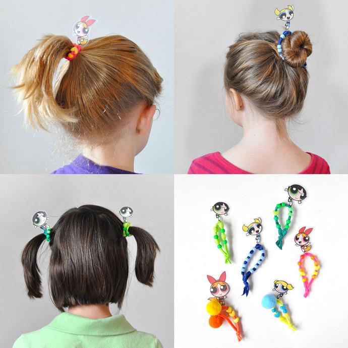 Diy Powerpuff Girls Hair Ties Handmade Charlotte