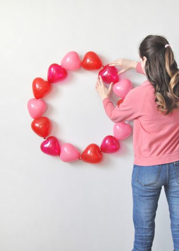 Valentine's Day Balloon Wreath