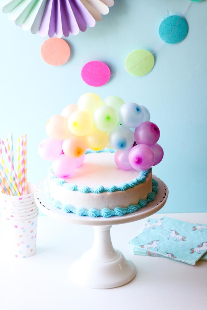 rainbow balloon cake topper handmade charlotte