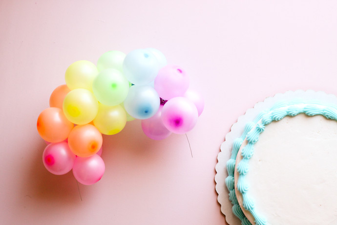 DIY Rainbow Balloon Cake Topper