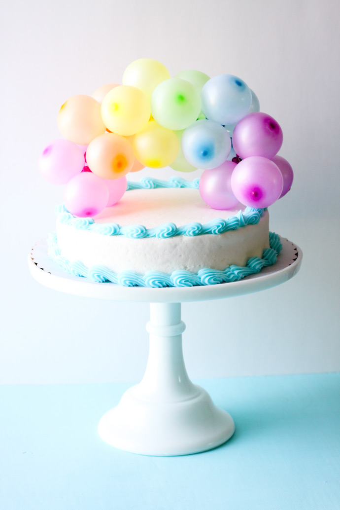 Happy Birthday Pink Cake And Balloons