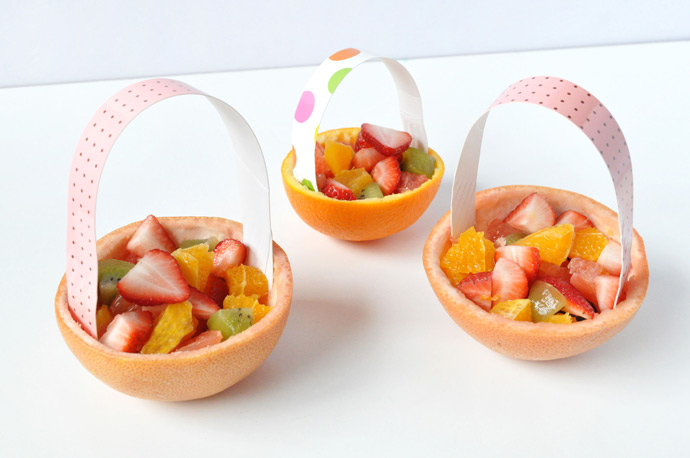 Easter Brunch Citrus Baskets