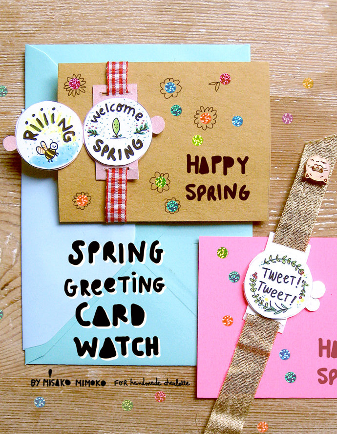 diy greeting card watches for spring - Diy Greeting Cards