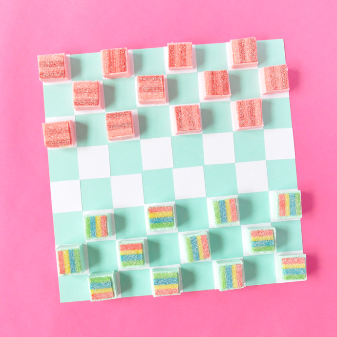 Rainbow Fudge Checkers