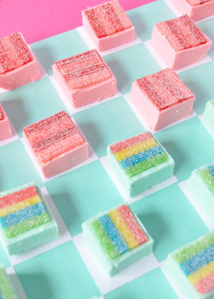 Rainbow Fudge Checkers