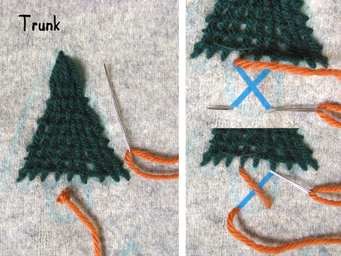DIY Winter Woods Embroidered Pullover