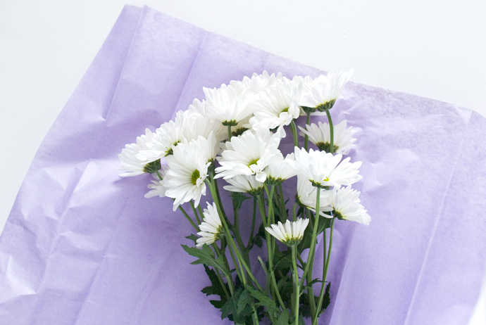 Printable Fresh Flower Bouquet Wrap