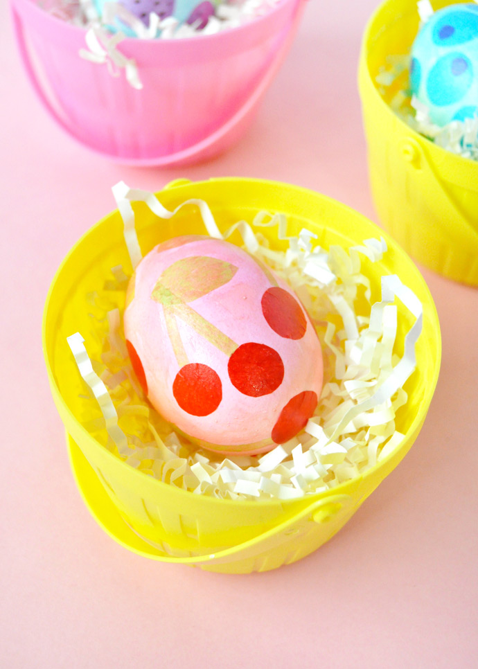 Decoupage Fruit Easter Eggs