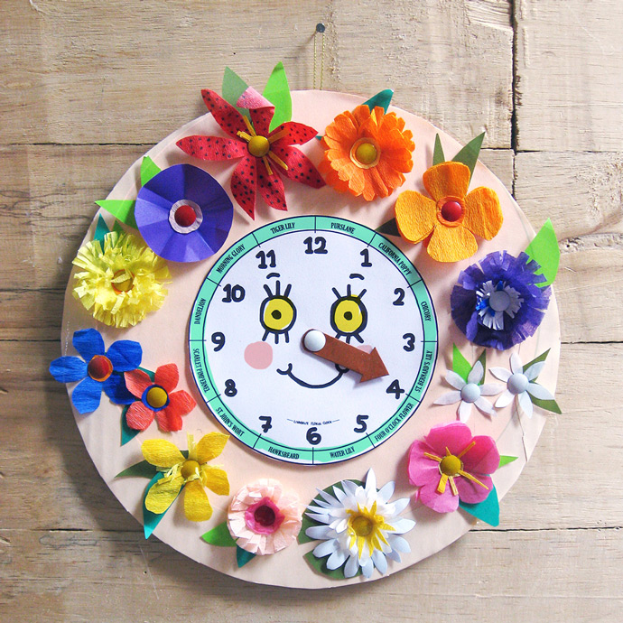 DIY Floral Toy Clock