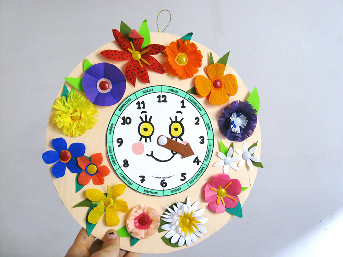 DIY Floral Toy Clock ⋆ Handmade Charlotte
