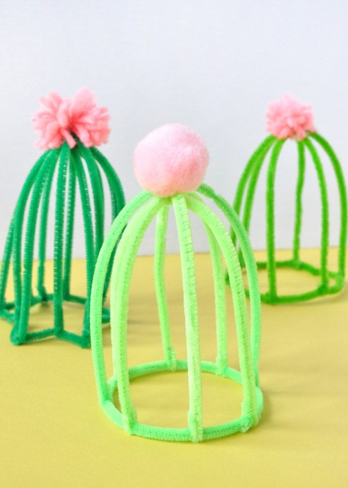 DIY Pipe Cleaner Cacti
