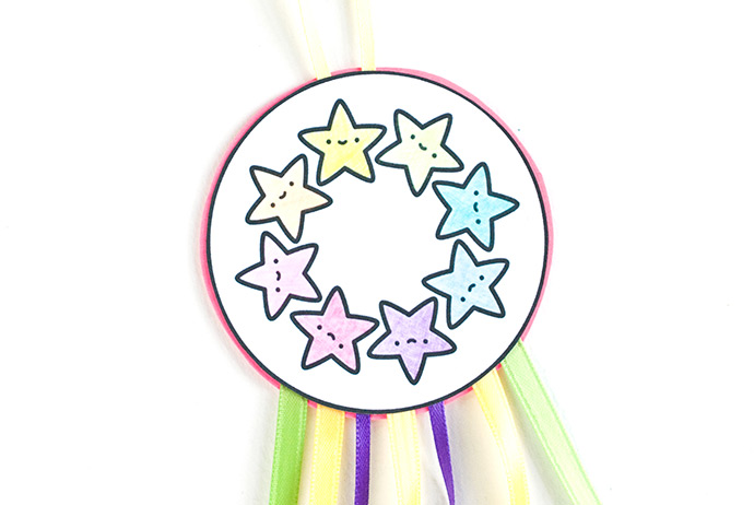 Printable Shooting Star Ribbon Flier
