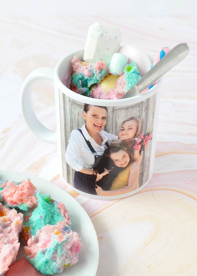 Unicorn Mug Cakes for Mother's Day