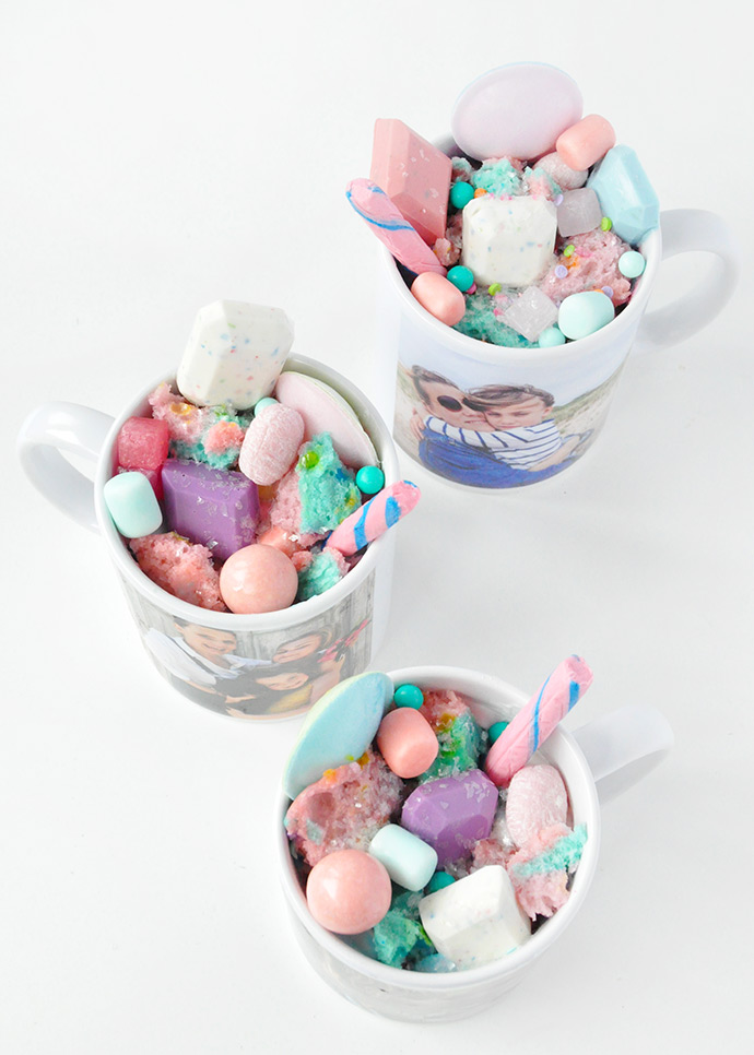 Unicorn Mug Cakes for Mother's Day