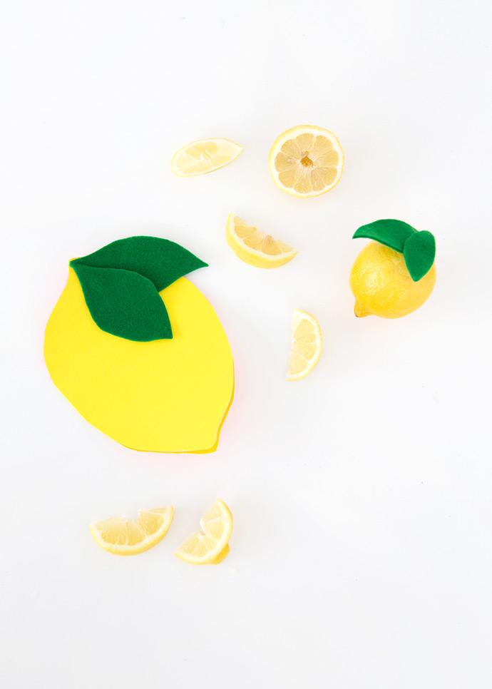 DIY Felt Lemon Notebook | Handmade Charlotte