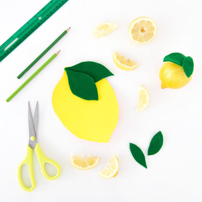 DIY Felt Lemon Notebook