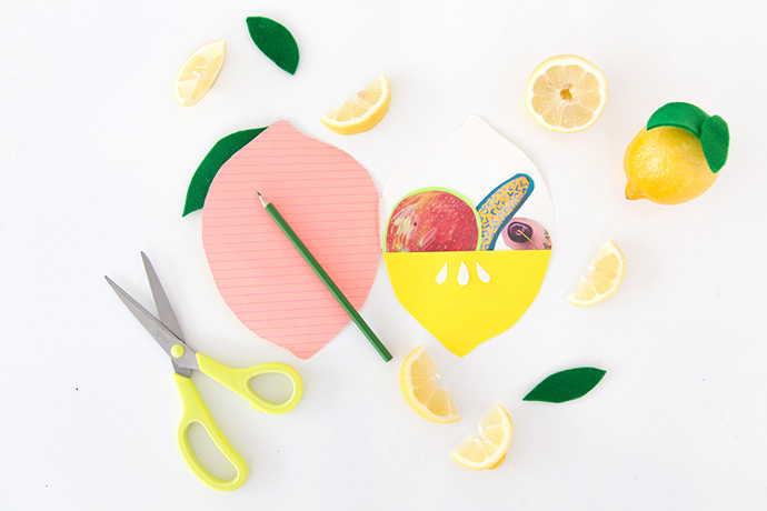 DIY Felt Lemon Notebook | Handmade Charlotte