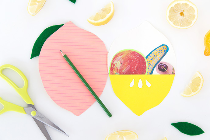 DIY Felt Lemon Notebook