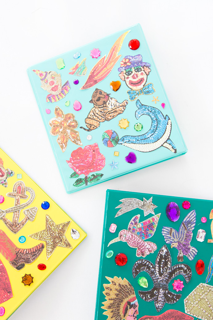 DIY Sequin Patch Binders