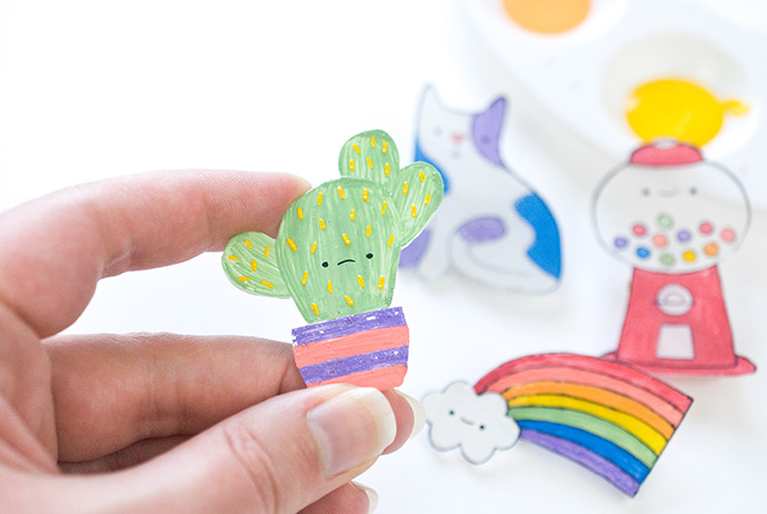 Kawaii Shrink Plastic Badges