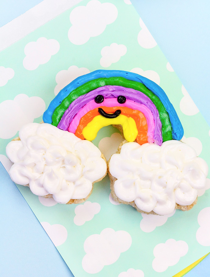 DIY Happy Rainbow Rice Krispie Treats