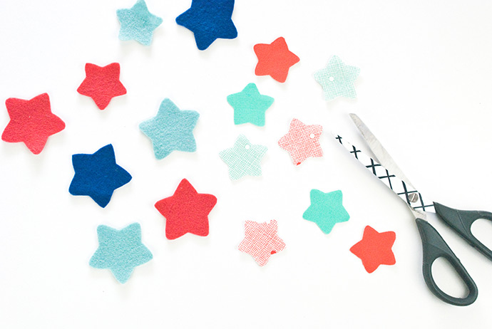 Smiling Star Felt Magnets