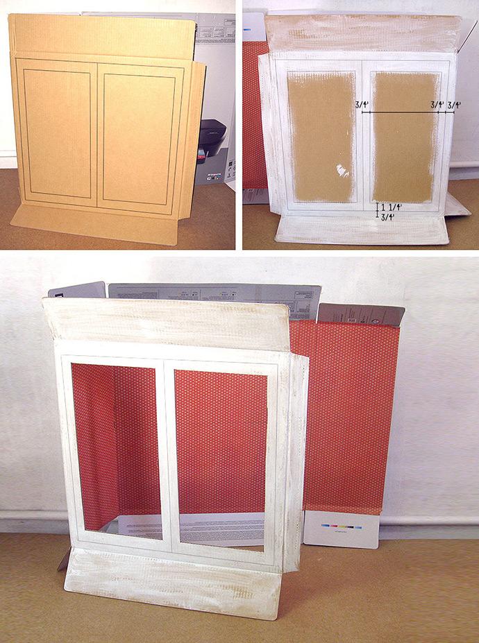 cardboard display cabinet